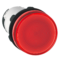 XB7EV64P Сигнальная лампа 22 мм до 250В красная (накаливание ВА 9s)