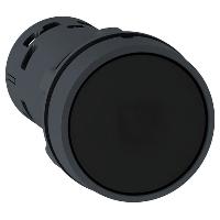 XB7NA25 Кнопка 22 мм черная с возвратом NO+NC
