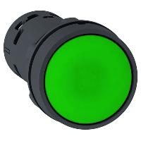 XB7NA35 Кнопка 22 мм зеленая с возвратом NO+NC