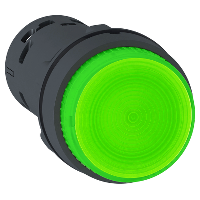 XB7NW33M1 Кнопка 22 мм 230В зеленая с подсветкой