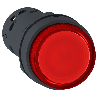 XB7NW34M2 Кнопка 22 мм 230В красная с подсветкой