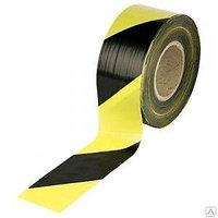 Лента сигнальная 200 м желтый с черным