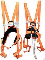 """Предохранительный пояс парашютного типа """"KEMSAN CE"""" черный с оранжевым"""