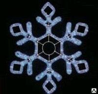 Снежинка LED  79х69см 240V, без контроллера, белая