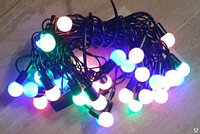 "LED гирлянда ""Шарики 15 мм"" G-022"