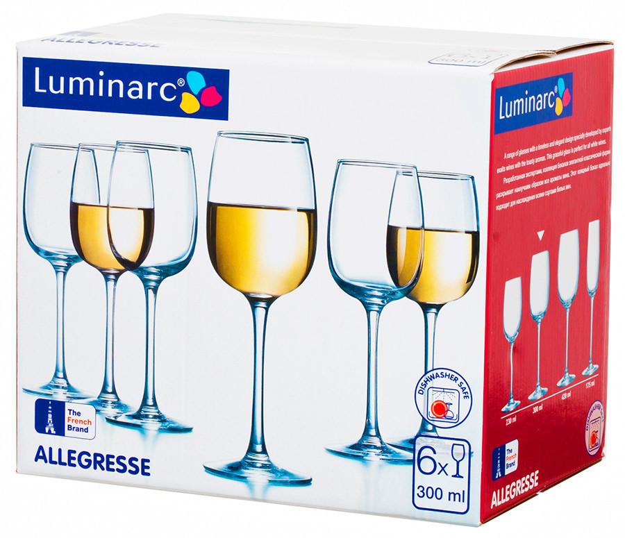 Набор фужеров для вина Luminarc Allegresse 300 мл. (6 штук)