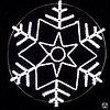 Снежинка из дюралайта S-008