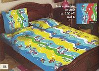"""Постель детская """"Том и Джерри"""" №209 ш. 150+-2"""