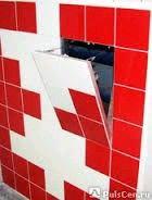 Люк под покраску для монтажа в стену (без петель) 500*500