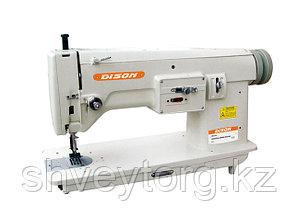 Одноигольная швейная машина челночного стежка с плоской платформой - строчки ЗигЗаг Dison 391