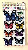 """Набор наклеек """"Бабочки"""" 5D, цветные, 9шт., фото 1"""