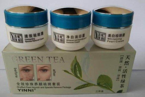 Yinni Набор косметический от пигментных пятен «Зеленый чай»3 в 1