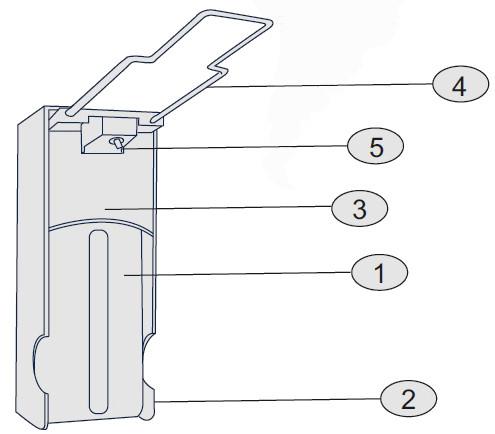 диспенсер для наливных моющих средств с локтевым приводом