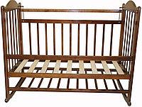 Детская кроватка Мой малыш 01 (темная)