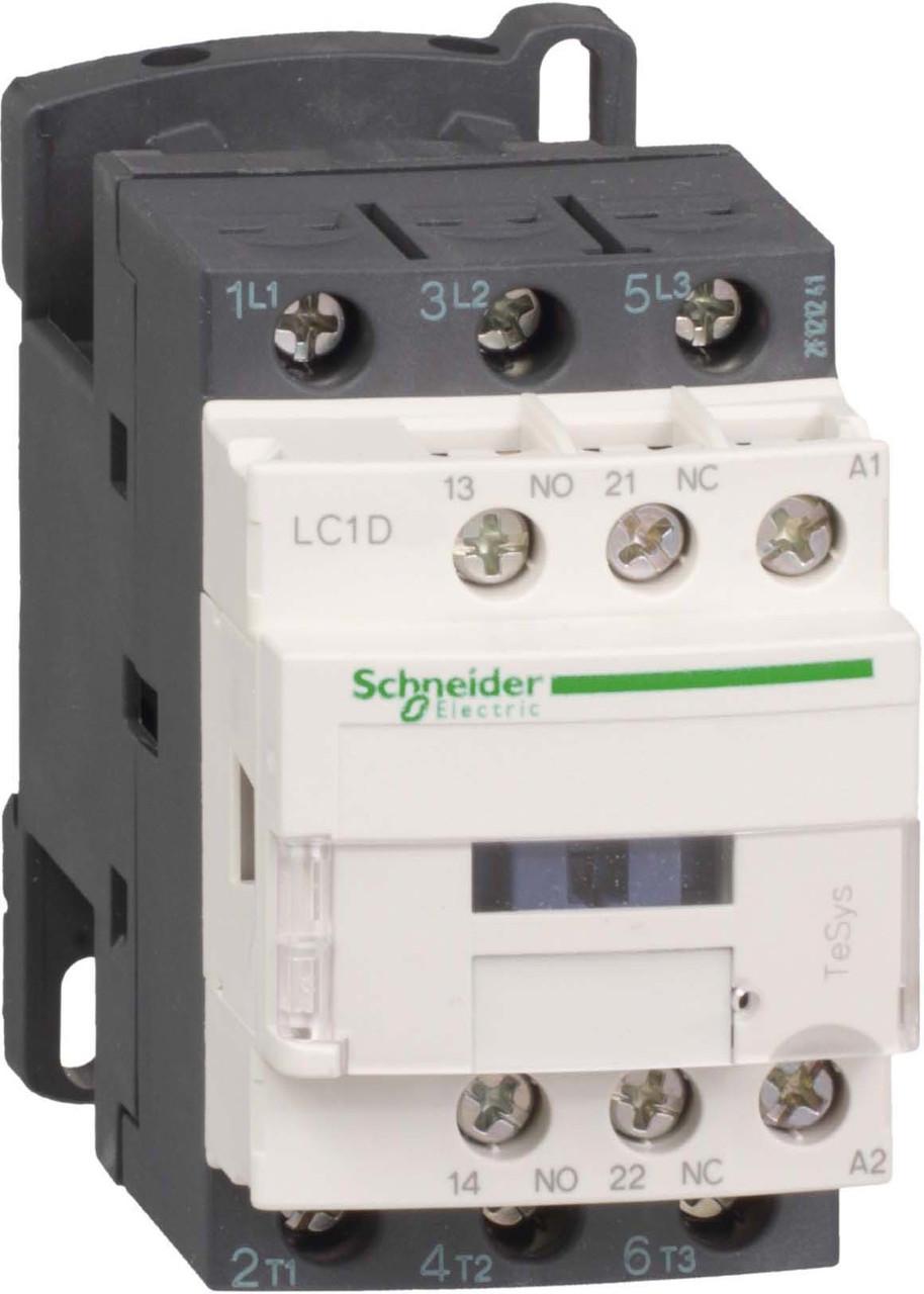 3-полюсный контактор TeSys D, 32А, 1НО+1НЗ, 110В АС