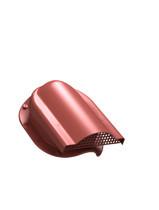 Вентилятор подкровельного пространства Р51 с проходным элементом для кровли из металлочерепицы красный
