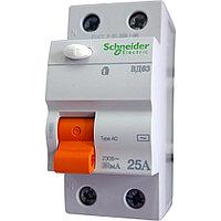 11451 Дифференциальный Выключатель нагрузки (УЗО) ВД63 2П 25A 300мA АС, Испания