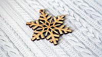 Снежинка деревянная для упаковки Новогодних подарков
