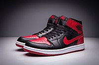 """Кожаные кроссовки Air Jordan 1 Retro """"Bred"""" (36-47), фото 3"""