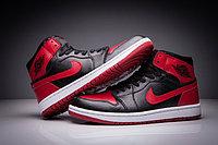 """Кожаные кроссовки Air Jordan 1 Retro """"Bred"""" (36-47), фото 2"""
