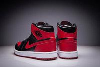"""Кожаные кроссовки Air Jordan 1 Retro """"Bred"""" (36-47), фото 5"""