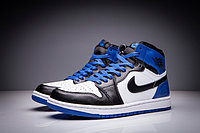 "Кожаные кроссовки Air Jordan 1 Retro ""Black/Blue/White"" (36-47), фото 3"
