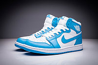 """Кожаные кроссовки Air Jordan 1 Retro """"Sky Blue White"""" (36-47), фото 2"""