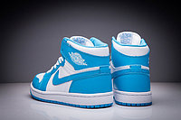 """Кожаные кроссовки Air Jordan 1 Retro """"Sky Blue White"""" (36-47), фото 3"""