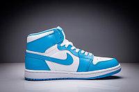 """Кожаные кроссовки Air Jordan 1 Retro """"Sky Blue White"""" (36-47), фото 4"""