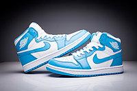"""Кожаные кроссовки Air Jordan 1 Retro """"Sky Blue White"""" (36-47), фото 5"""