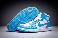 """Кожаные кроссовки Air Jordan 1 Retro """"Sky Blue White"""" (36-47)"""