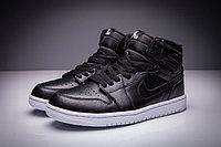 """Кожаные кроссовки Air Jordan 1 Retro """"Black/White"""" (36-47), фото 3"""