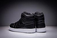 """Кожаные кроссовки Air Jordan 1 Retro """"Black/White"""" (36-47), фото 5"""