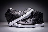 """Кожаные кроссовки Air Jordan 1 Retro """"Black/White"""" (36-47), фото 2"""