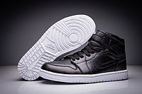 "Кожаные кроссовки Air Jordan 1 Retro ""Black/White"" (36-47)"