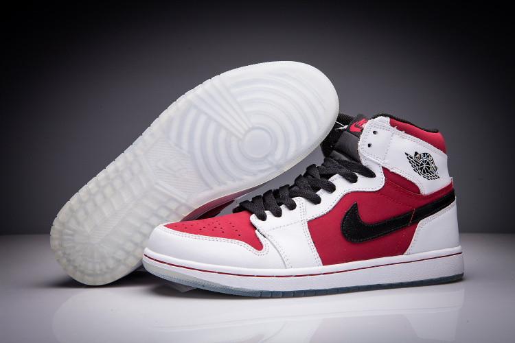 "Кожаные кроссовки Air Jordan 1 Retro ""Red/Black/White"" (36-47)"