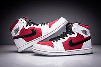 "Кожаные кроссовки Air Jordan 1 Retro ""Red/Black/White"" (36-47), фото 2"