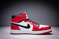 """Кожаные кроссовки Air Jordan 1 Retro """"Chicago Bulls"""" (36-47), фото 4"""