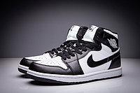 """Кожаные кроссовки Air Jordan 1 Retro """"Black White"""" (36-47), фото 3"""