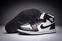 "Кожаные кроссовки Air Jordan 1 Retro ""Black White"" (36-47)"