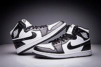 """Кожаные кроссовки Air Jordan 1 Retro """"Black White"""" (36-47), фото 2"""