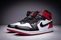 "Кожаные кроссовки Air Jordan 1 Retro "" Black/White/Red"" (36-47), фото 3"