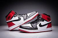 "Кожаные кроссовки Air Jordan 1 Retro "" Black/White/Red"" (36-47), фото 2"