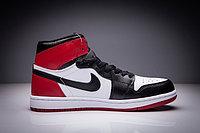 "Кожаные кроссовки Air Jordan 1 Retro "" Black/White/Red"" (36-47), фото 4"