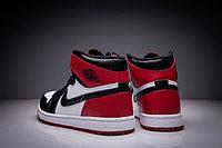 "Кожаные кроссовки Air Jordan 1 Retro "" Black/White/Red"" (36-47), фото 5"