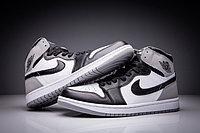 """Кожаные кроссовки Air Jordan 1 Retro """"Fragment Design"""" Black White Grey (36-47), фото 2"""