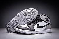 """Кожаные кроссовки Air Jordan 1 Retro """"Fragment Design"""" Black White Grey (36-47)"""