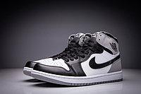 """Кожаные кроссовки Air Jordan 1 Retro """"Fragment Design"""" Black White Grey (36-47), фото 3"""
