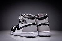 """Кожаные кроссовки Air Jordan 1 Retro """"Fragment Design"""" Black White Grey (36-47), фото 5"""