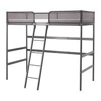 Кровать-чердак каркас ТУФФИНГ темно-серый ИКЕА, IKEA, фото 1